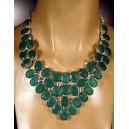 Collar de auténticas esmeraldas de las Minas de Sakota (Brasil) y plata de Ley (925)