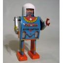 Capitán Astro. Autómata de chapa con movimiento.